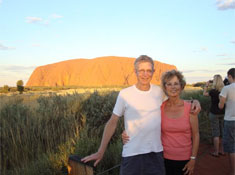 Clive and Anthea at Uluru, Central Australia, May 2012