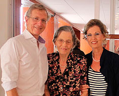 Clive, Kathleen and Anthea reunited 60 years later in Brazil